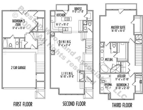 three story home plans 3 story house plans plan design modern floor 2 lrg