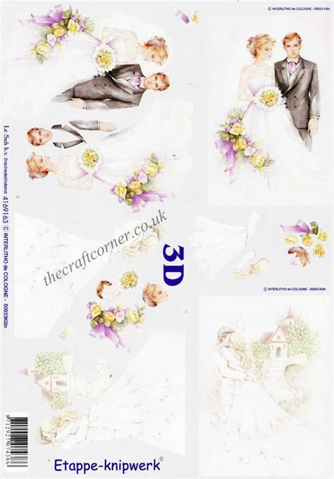 wedding decoupage sheets wedding church 3d decoupage sheet from le suh