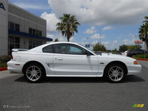 1997 Ford Mustang Gt by White 1997 Ford Mustang Gt Coupe Exterior Photo