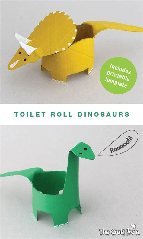 free toilet paper roll crafts create dinosaurs from toilet rolls free printable shape
