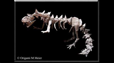 origami t rex skeleton origami dinosaur skeleton