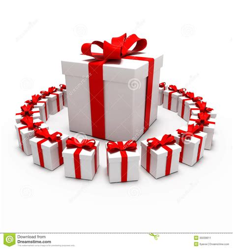 gifts this great gift surrounded by small gifts stock image image