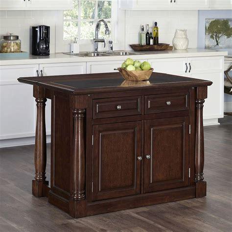 kitchen island cherry wood monarch cherry kitchen island with storage 5007 945 the home depot