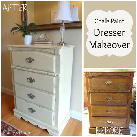 diy chalk paint makeovers chalk paint dresser makeover puddy s house