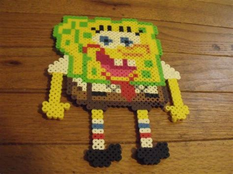 spongebob perler spongebob squarepants and large perler bead