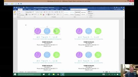 how to make business cards with microsoft office how to make a business card in microsoft word 2016