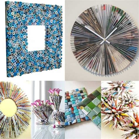 recycling crafts for to make diy ideas best recycled magazines projects
