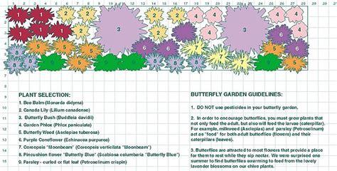 butterfly garden layout butterfly garden plan zone 5 and up gardening