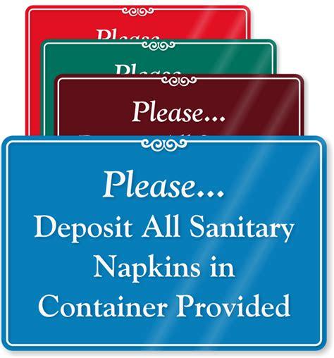 Bathroom Towels Ideas feminine hygiene signs do not deposit sanitary napkins