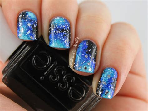 acrylic paint nail galaxy acrylic nails images