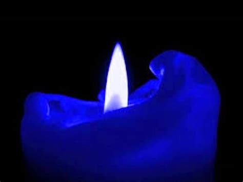 noon blue candle