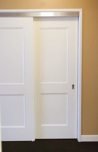 bypass closet door bypass doors contemporary closet chicago by supa doors