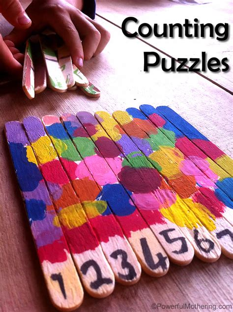 arts and crafts with popsicle sticks for counting popsicle stick puzzles arts and crafts for