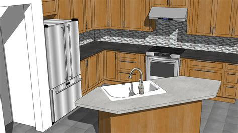designing a kitchen with sketchup sketchup kitchen design