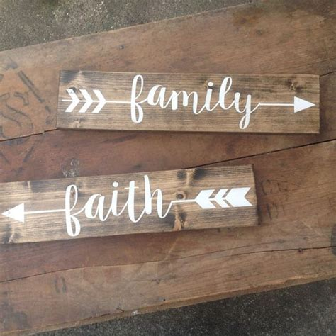 woodworking signs arrow wood sign one rustic sign family