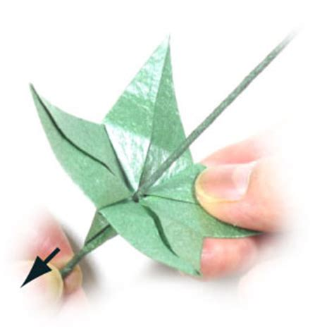 flower stem origami how to make an origami wire stem page 4