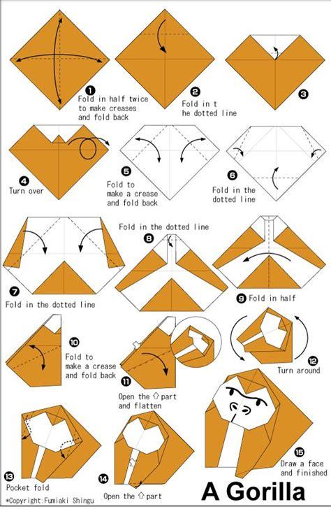 origami zoo animals origami gorilla education station