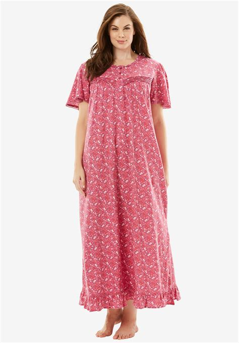 plus size cotton knit nightgowns cotton knit gown by dreams co 174 plus size sleep