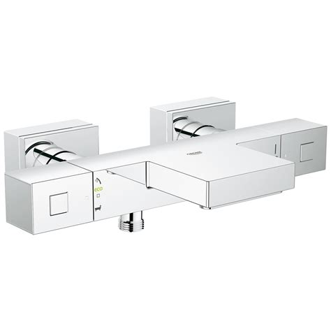 grohe bath shower mixer taps grohe grohtherm cube thermostatic wall mount bath shower