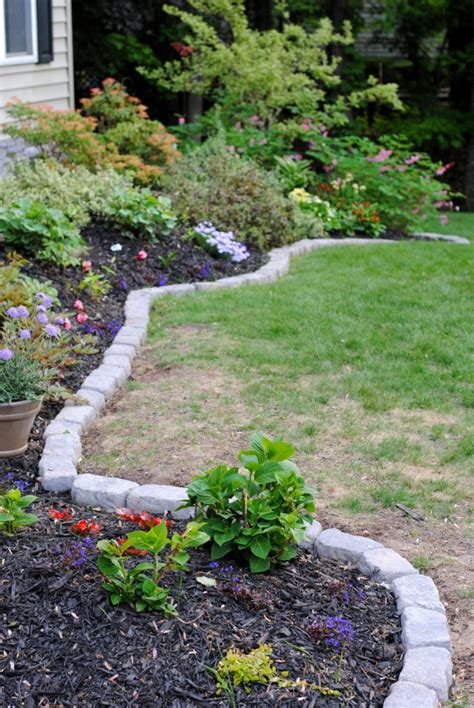 rocks for garden edging 10 garden edging ideas with bricks and rocks garden