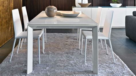 Table En Bois Blanc 4058 by Connubia Calligaris Omnia Glass Cb 4058 Flv 200 Tables