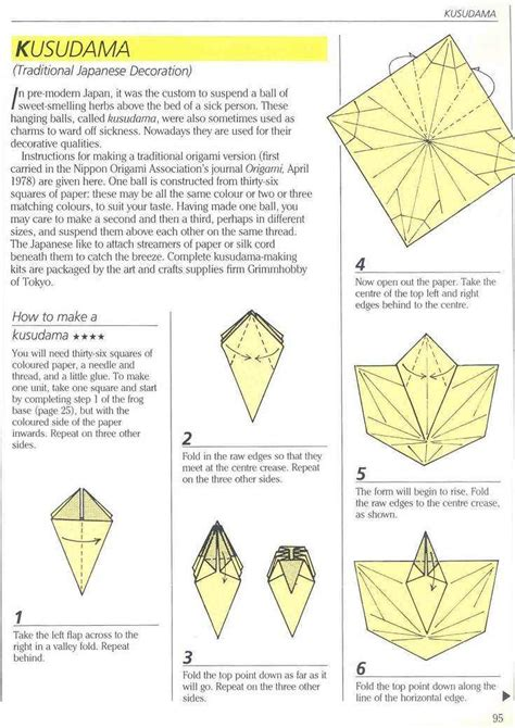 difficult origami diagrams traditional japanese kusudama