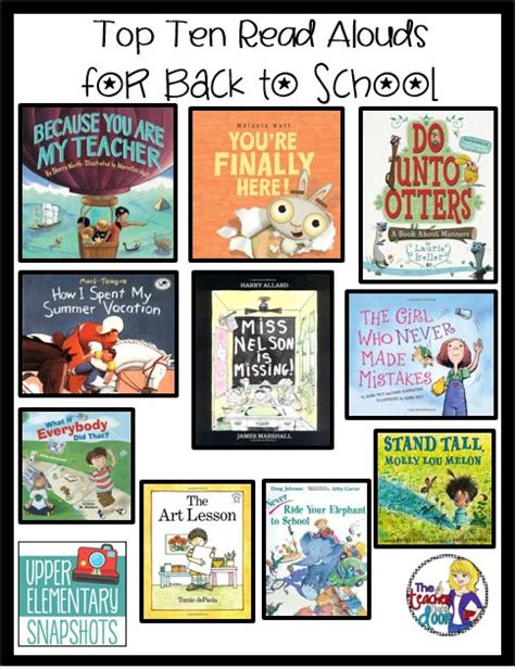 picture book read alouds for 4th grade week elementary and top ten on