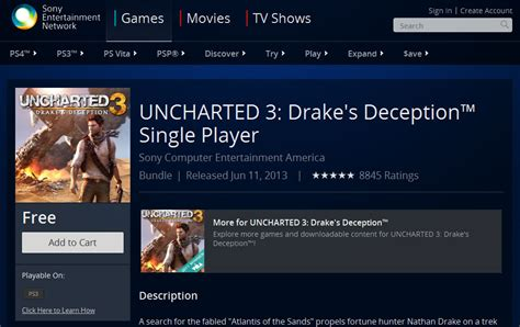 free single player uncharted 3 s single player caign currently listed as