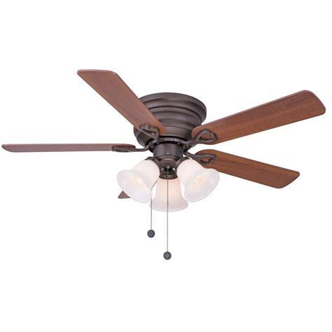 home depot ceiling fan lights clarkston 44 in brushed nickel ceiling fan with light kit