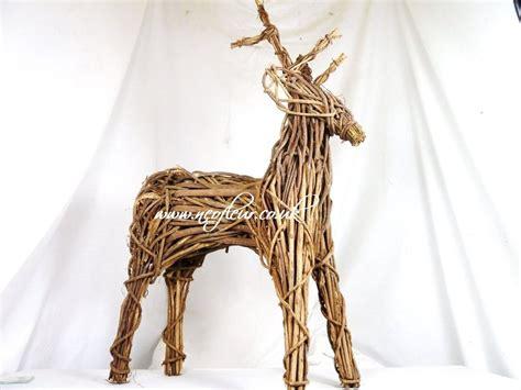 wicker reindeer decorations outdoor indoor willow wicker reindeer display