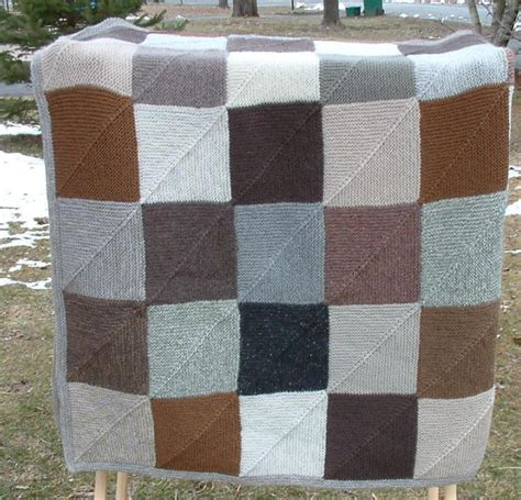 knitted squares for afghan domino squares afghan by helen feddema knitting pattern