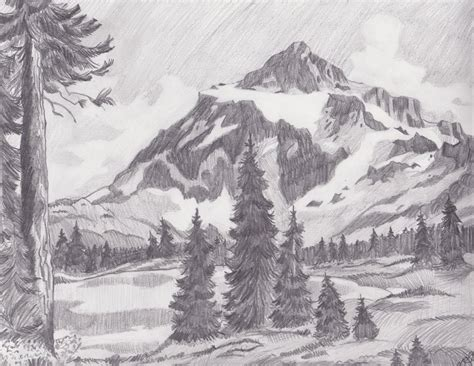 landscapes to draw mountain landscape by melmo1123 on deviantart