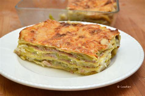 lasagnes aux courgettes ch 232 vre et jambon avec p 226 te maison crookies