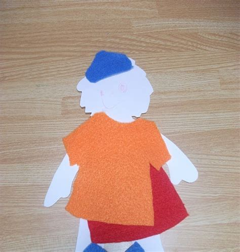 felt paper craft felt clothes paper doll craft preschool crafts for