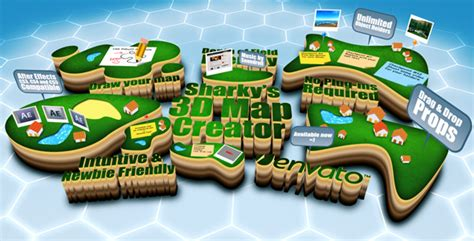 sharky s 3d map creator v1 0 by yunlai videohive