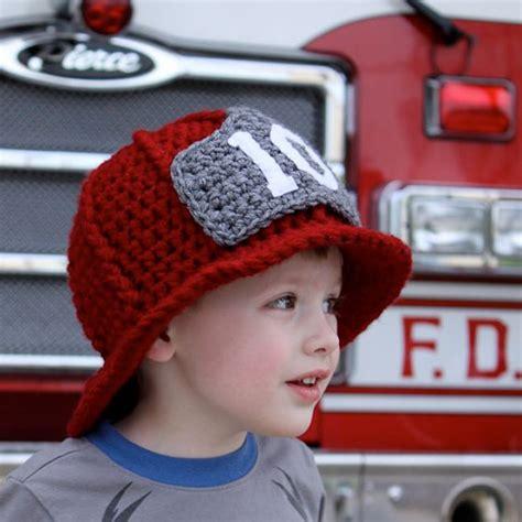knitted fireman hat pattern firefighter helmet crochet pattern permission to sell