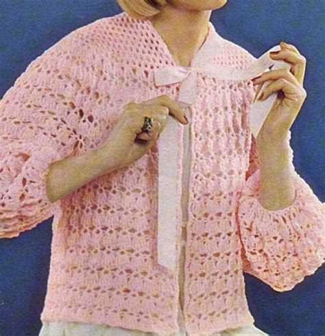 knitted bed jacket pattern free pin by knit crochet on liseuse bed jacket crochet