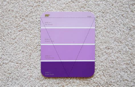 home depot paint lavender paint chip bunting think crafts by createforless