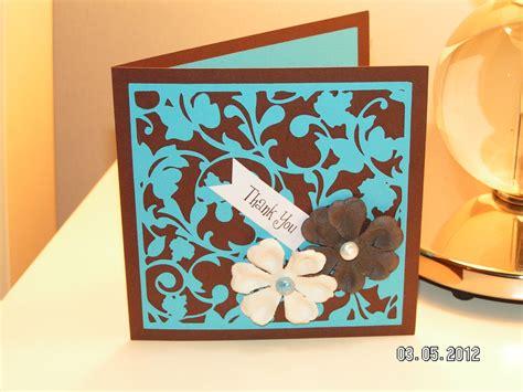 card with cricut thank you card southern cricut