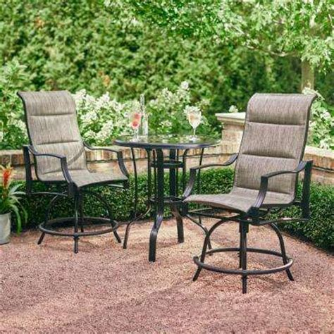 steel patio furniture sets bistro sets patio dining furniture the home depot