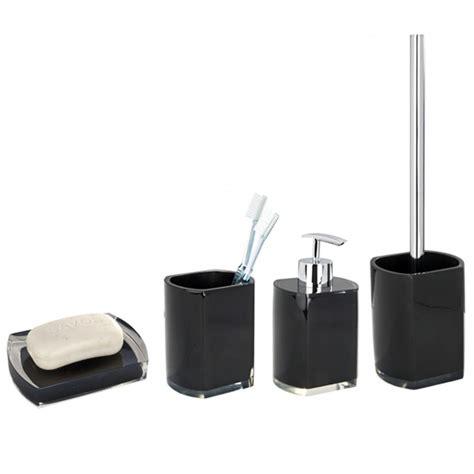 black bathroom accessories sets wenko lido bathroom accessories set black at