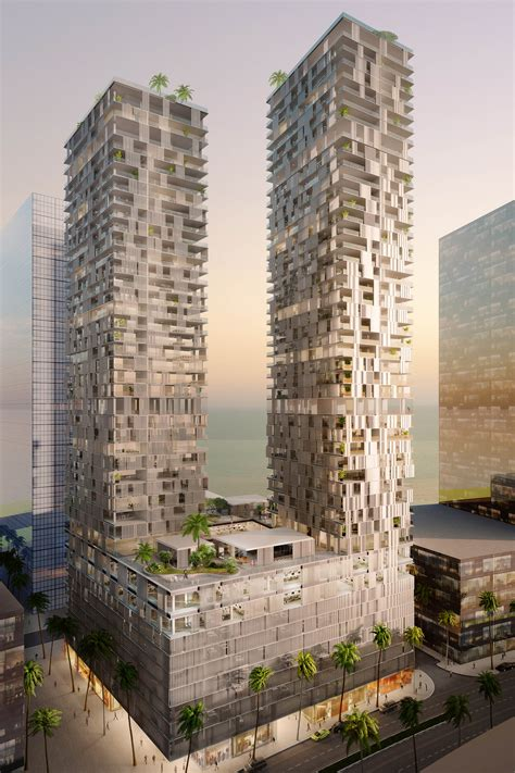 contemporary architects pixilated contemporary architecture bahrain bay tower by
