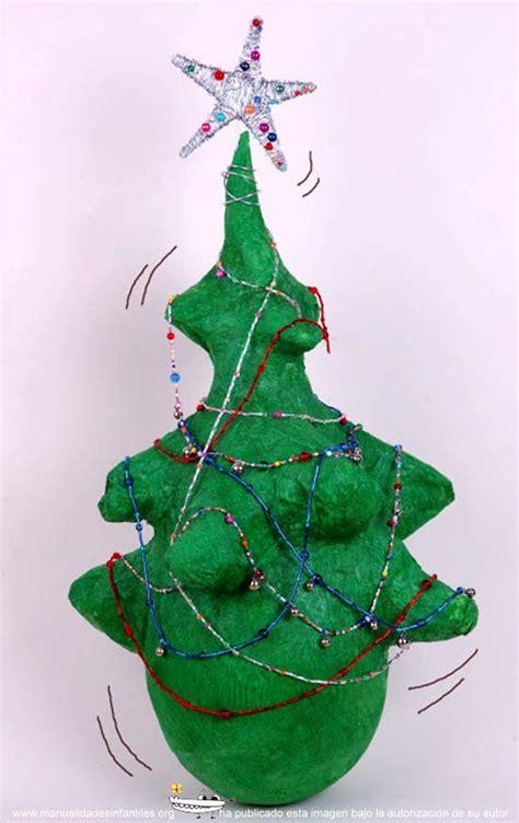 hacer arbol de navidad 193 rbol de navidad de papel mach 233 manualidades infantiles