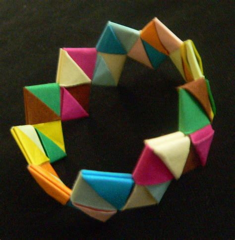how to make jewelry out of paper origami bracelet 183 a paper bracelet 183 jewelry