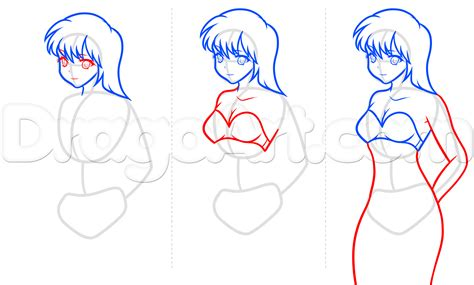 how to draw bodies how to draw anime step by step brown hairs