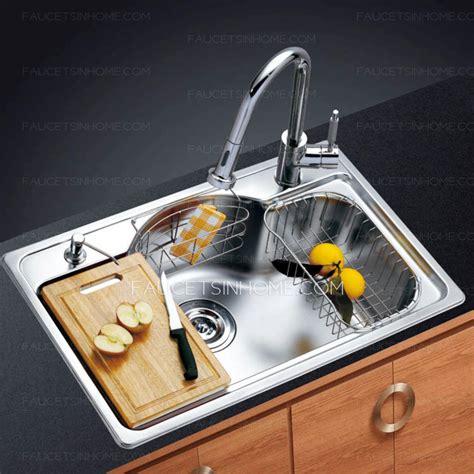 high end kitchen sinks high end single bowl large capacity nickel brushed