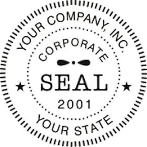 company rubber st format self inking corporate business company logo seal