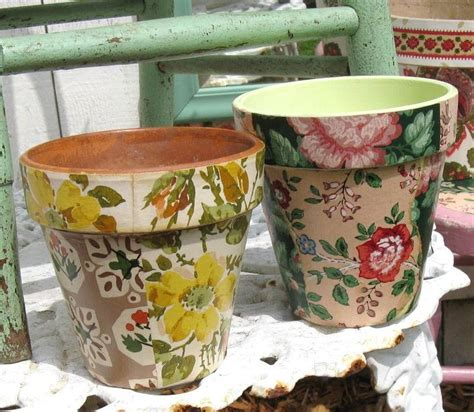 decoupage decorating ideas wallpaper decoupage flower pots favecrafts