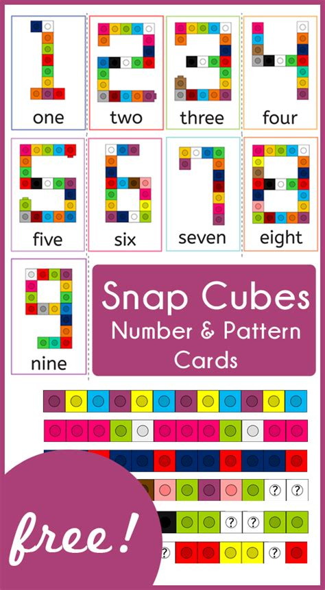 how to make a cube out of card snap cubes number and pattern cards 187 one beautiful home