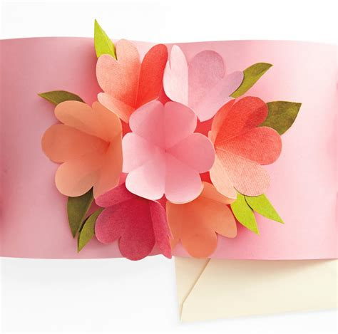 how to make a flower pop up card craft maniacs flower pop up card